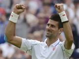Novak Djokovic of Serbia reacts after defeating Juan Carlos Ferrero of Spain. PHOTO: REUTERS