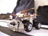 Wall-E: A robotic car at the exhibit.  PHOTO: MYRA IQBAL/EXPRESS