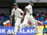 Mohammad Hafeez (R) and teammate Taufeeq Umar (L) run between the wickets during the first day of the second Test match between Sri Lanka and Pakistan at the Sinhalese Sports Club (SSC) Ground in Colombo on June 30, 2012. PHOTO: AFP