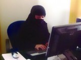 This file photo shows Farida Afridi working in her office. PHOTO: FILE