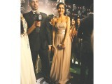 Maha Burney  Maha Burney, who was nominated for Best Emerging Talent in Fashion, looked elegant in a chiffon Maheen Karim dress in beige.  She paired it with a diamante clutch and matching earrings