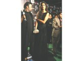 Rabia Butt Former LSA winner, model Rabia Butt made a statement with her black Fahd Hussayn dress and dark lips. Apart from the gold clutch, her accessories were understated