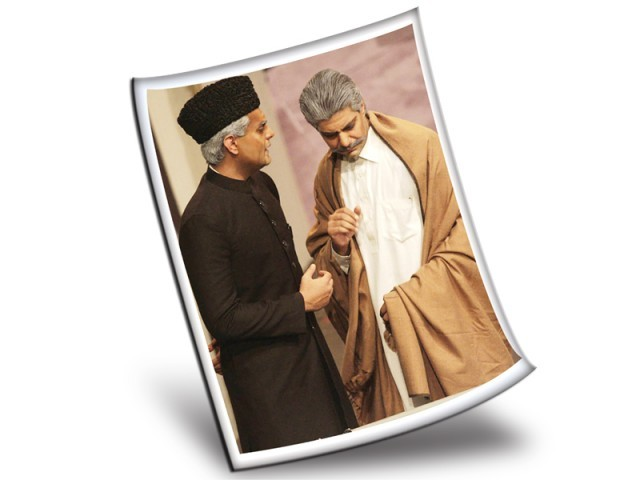 A theater play 'Pawnay 14 August' written by Anwer Maqsood includes Jinnah and Allama Iqbal.