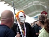 "A person dressed as the character ""Ichigo"" from the Japanese manga and anime series Bleach is seen during the Comic-Con international convention in San Diego, California July 13, 2012. PHOTO: REUTERS"