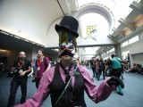 Attendee Abby Laundy, who is wearing a costume inspired by the video game BioShock, poses during Comic-Con international convention in San Diego, California July 13, 2012. PHOTO: REUTERS
