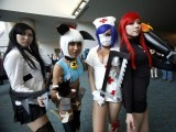 Attendees dressed as characters from the video game Skullgirls pose during Comic-Con international convention in San Diego, California July 13, 2012. PHOTO: REUTERS