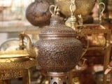 A traditional style brass kettle. PHOTO: FARAH KAMAL