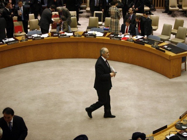 Syrian Ambassador to the United Nations Bashar Jaafari. The UN voted on resolutions calling for sanctions on Syria. PHOTO: REUTERS