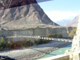 For the past three years, the bridge served as the only route to Gilgit for thousands of people in Danyore, Bagrote and Jalalabad. PHOTO: FILE
