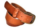 The skinny tan belt can be found at any women's apparel shop or a cheaper option can be found at Zainab Market (Rs500).