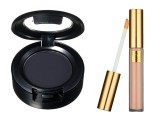 The MAC four step smokey eye kit is perfect for the job.  For the lips, go for an Estee Lauder Burnished bronze lip colour and finish it off with a lip gloss (right).