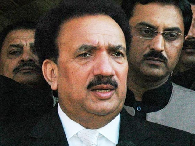 Rehman Malik says more than 33 camps established in Afghanistan working against Pakistan. PHOTO: SANA/FILE