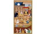 Akbar meets Jesuits in the Ibadat Khana (House of Worship) in Fatehpur Sikri.