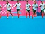 Despite crushing defeats to Great Britain and Australia, Pakistan hockey team management has insisted that the team is on the path to regain its lost glory and claimed to be favourites for the 2014 World Cup. PHOTO: AFP
