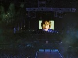 A video of musician John Lennon singing his song Imagine is seen on the screen during the closing ceremony of the London 2012 Olympic Games at the Olympic Stadium. PHOTO: REUTERS/FILE.