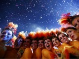 Performers pose after the end of closing ceremony of the London 2012 Olympic Games at the Olympic stadium August 12, 2012.   PHOTO: REUTERS/FILE.