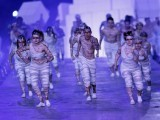 Performers take part in the closing ceremony of the London 2012 Olympic Games at the Olympic Stadium August 12. PHOTO: REUTERS/FILE.