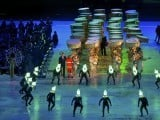 Performers take part in the closing ceremony of the London 2012 Olympic Games at the Olympic Stadium August 12, PHOTO: REUTERS/FILE.