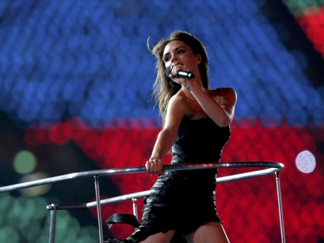 Victoria Beckham performs with The Spice Girls during the closing ceremony of the London 2012 Olympic Games at the Olympic Stadium, August 12, 2012. PHOTO: REUTERS/FILE.