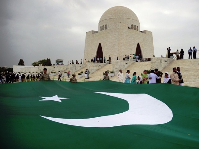 Pakistan's Independence Day celebrations began with the roaring echoes of a 31-gun salute in Islamabad. PHOTO: AFP