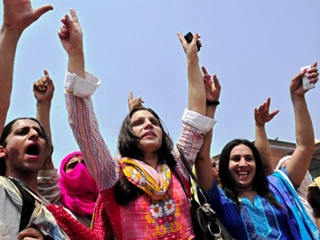 They expressed their love for the country by chanting slogans of 'Pakistan zindabad' and dancing to the tune of Sindhi music. PHOTO: AFP/FILE