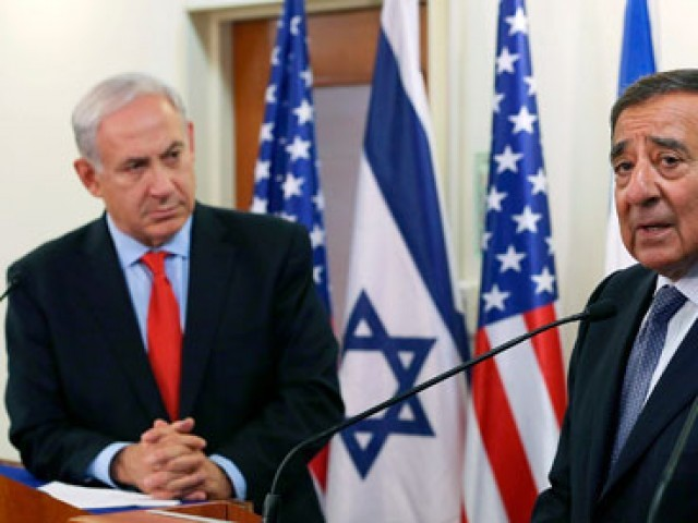 Israeli prime minister Binyamin Netanyahu (L) listens as US defence secretary Leon Panetta (R) speaks in Jerusalem on 1 August. PHOTO: REUTERS/FILE.