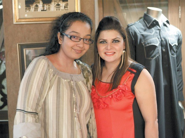 Tara Uzra Dawood with a friend.PHOTO COURTESY BRIDGE