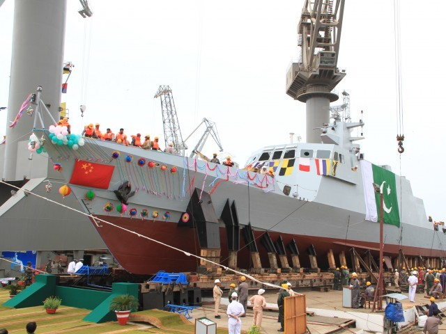PNS Dehshat is the second ship of its kind and was constructed at Karachi Shipyard and Engineering Works. PHOTO: PAKISTAN NAVY