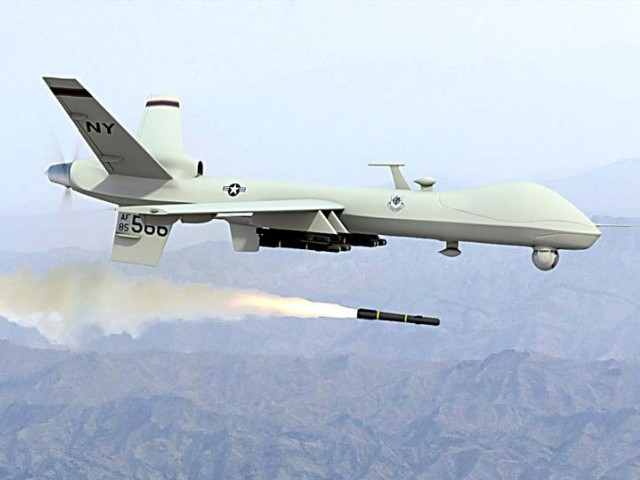 The drone attack was aimed at a house and a car in the Shawwal district. PHOTO: FILE