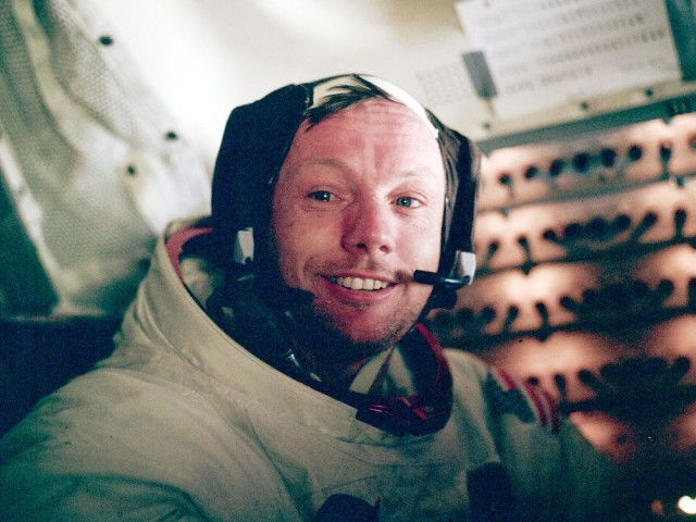 As commander of the Apollo 11 mission, Armstrong became the first human to set foot on the moon on July 20, 1969. PHOTO: NASA.GOV