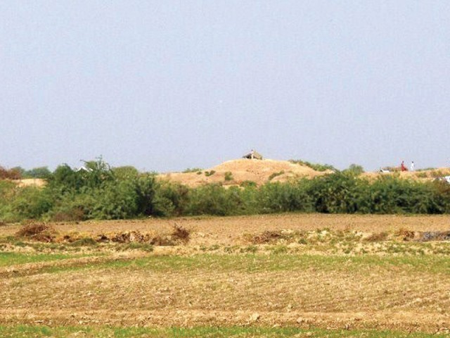 Devri jo Daro or mound of the top is located around 17 kilometres away from Matli taluka and coins with Arabic inscriptions have been found here. It is believed to date to the Mughal era. PHOTO: EXPRESS