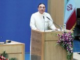 Delegations attend the last day of the NAM summit in Tehran. In his speech, President Zardari stressed on the importance of multilateral ties among nation states.  PHOTO: APP/AFP