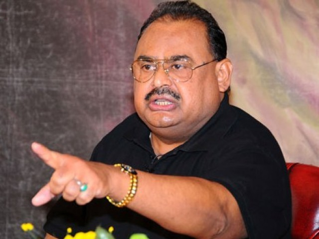 MQM chief addresses a conference organised to promote harmony between different sects of Islam. PHOTO: MQM