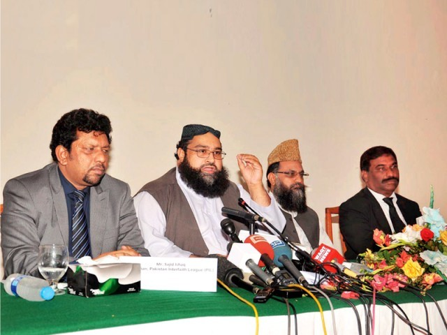At the press conference, Allama Tahir Ashrafi said his council will provide protection to Rimsha Masih. PHOTO: ONLINE