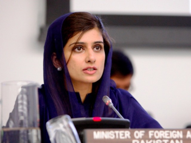 "Khar stressed that her country considered it in its national interest to have ""a pacified, prosperous and stable Afghanistan"".  PHOTO: PID/FILE"