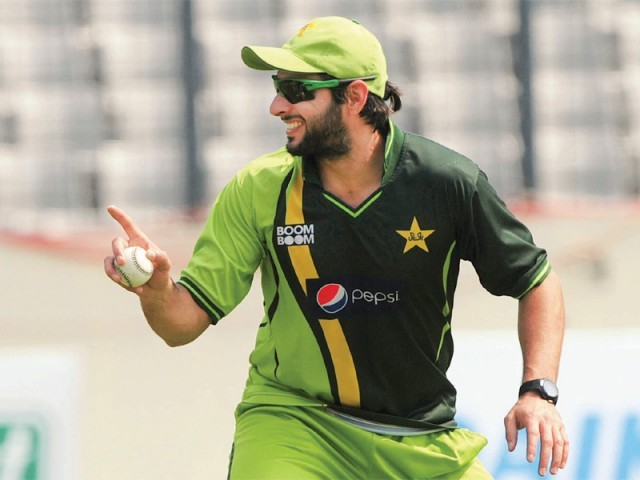 Afridi's poor show let Pakistan fans down during the series but a selector backed the former captain, saying that the all-rounder had the ability to bounce back from the slump. PHOTO: AFP
