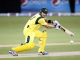 Australia's Shane Watson plays a shot. PHOTO: REUTERS