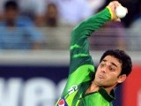Pakistani spinner Saeed Ajmal bowls during their first Twenty20 match against Australia. PHOTO: AFP