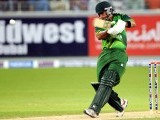 Pakistani batsman Imran Nazir plays a shot. PHOTO: AFP