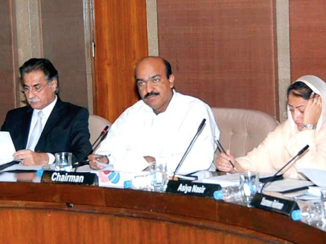 The PAC meeting was presided over by committee Chairman Nadeem Afzal Gondal. PHOTO: SANA