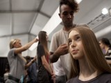 A model is made up backstage at the Parkchoonmoo Spring-Summer 2013 collection during New York Fashion Week. PHOTO: REUTERS