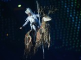 An artist performs during the closing ceremony of the London 2012 Paralympic Games at the Olympic Stadium in east London on September 9, 2012. PHOTO: AFP / ADRIAN DENNIS.