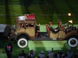 Britain's Prince Edward, Earl of Wessex, waves as he is driven into the arena for the closing ceremony of the London 2012 Paralympic Games at the Olympic Stadium in east London on September 9, 2012. PHOTO: AFP / BEN STANSALL