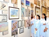 "Titled ""PAF Proud Heritage through Art"", the exhibition is currently being held at the National Art Gallery of the Pakistan National Council of the Arts (PNCA). PHOTO: ONLINE/INP"