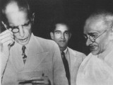 Muhammad Ali Jinnah with Gandhi. PHOTO: FILE