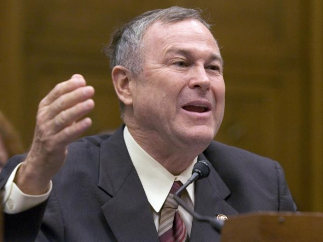 Rohrabacher says imprisonment signals that Pakistan is partner of terrorists murdering Americans and not a US ally. PHOTO: AFP/FILE
