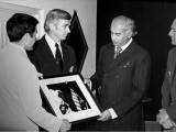 President Zulfikar Ali Bhutto received an autographed photo of the Apollo 17 mission from the astronauts. PHOTO COURTESY NASA AND THE US CONSULATE GENERAL LAHORE