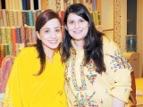 Adeela and Selina Khan.Kayseria and Garnier collaborate to celebrate Eid with their customers at Vogue Towers in Lahore. PHOTO COURTESY FAISAL FAROOQUI
