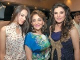 Alizay, Naila Ishtiaq and Resham. Lajwanti Luxury Prêt and Sonar Jewellers launch their retail store at Mall One in Lahore. PHOTO COURTESY SAVVY PR AND EVENTS