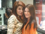 Saba and Ayesha Omar. L'Oréal Paris celebrates Eid with their customers with an interactive mall animation at Dolmen Mall in Karachi. PHOTO COURTESY LOTUS PR